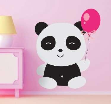 Adesivo infantil panda com balão
