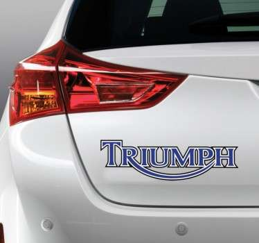 Sticker decorativo logo triumph