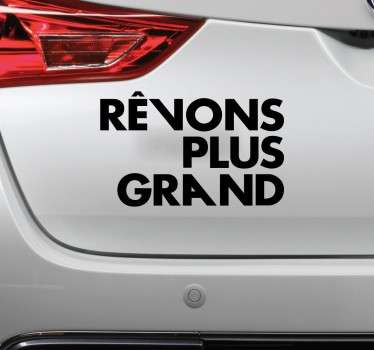 Sticker PSG rêvons plus grand