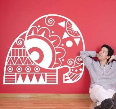 Tribal Patterned Elephant Sticker