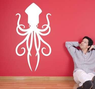 Naklejka dekoracyjna ośmiornica kraken