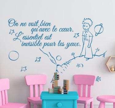 Sticker citation petit prince essentiel