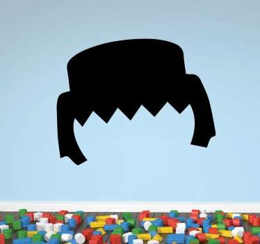 Quirky Hairstyle Vinyl Wall Sticker