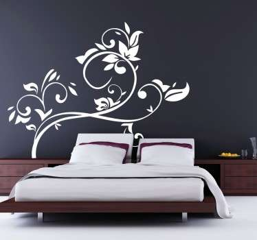 A decorative floral branch wall sticker that will make your home a unique and different place. Personalise your bedroom headboard or living room with this gorgeous flower wall sticker, easy to apply and remove.