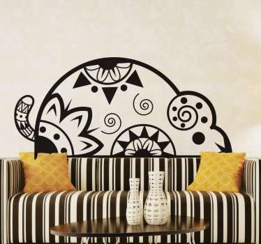 Tribal Rat Patterned Wall Sticker