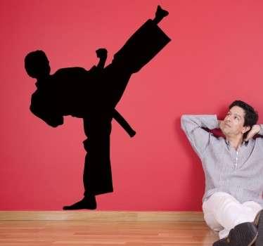 Silouhette Karate Wandtattoo