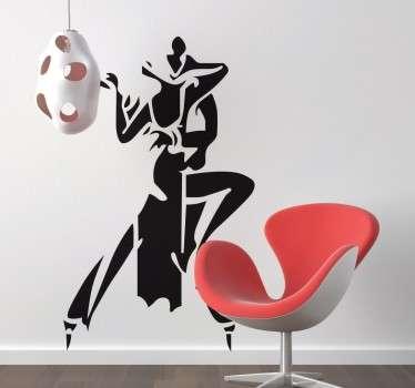 Tango Dancers Sticker