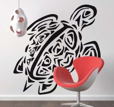 Adesivo decorativo tartaruga stilizzata