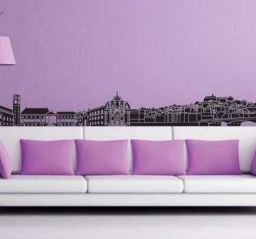 Autocolante decorativo linha do horizonte Coimbra