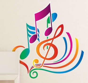Sticker muziek kleuren