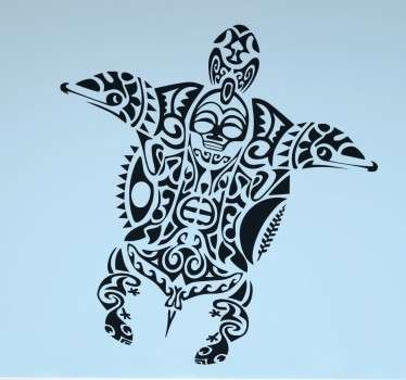 From our collection of animal wall stickers, a Maori style turtle to decorate your home or business.
