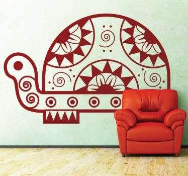 Adesivo murale tartaruga etnica