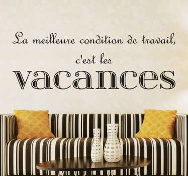 Sticker citation vacances