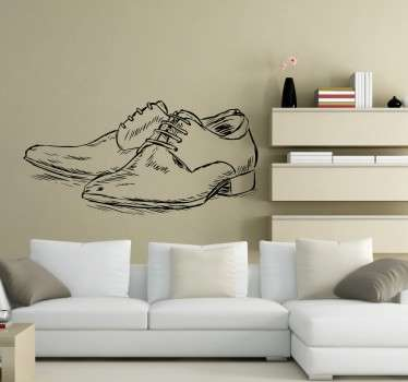 Adesivo murale scarpe da uomo