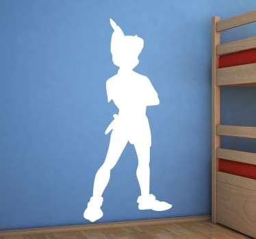 Sticker decorativo de Peter Pan para decorar y ambientar la habitación de tus hijos.