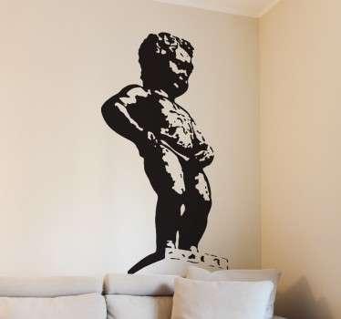 Vinilo decorativo escultura Bruselas