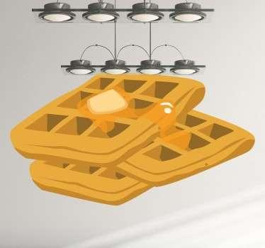 Vinil decorativo comida waffles