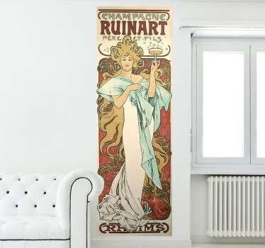 Champagne Ruinart Poster Sticker