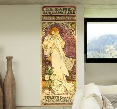 Poster sticker from Czech painter Alfons Mucha, the greatest exponent of Art Nouveau in the late nineteenth century.