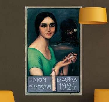 Vinilos artísticos con la recreación de un cartel publicitario de principios del siglo XX.