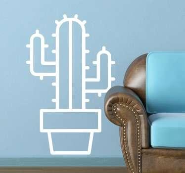 Adesivo disegno cactus stilizzato