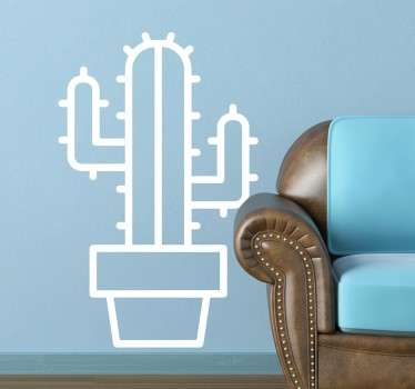 Muursticker Cactus Silhouet