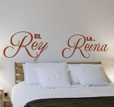 Wall sticker testiera il Re e la Regina