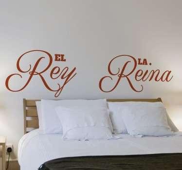 Vinilo cabecero cama rey y reina