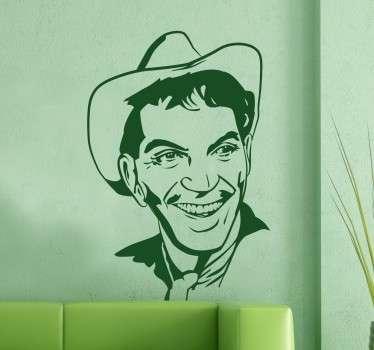 Vinilos de personajes clásicos del cine, en este caso un divertido retrato de Mario Moreno Cantinflas