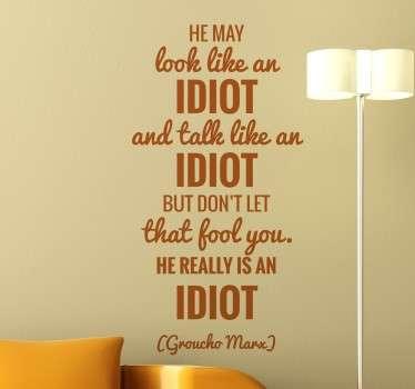 Naklejka z cytatem Groucho Marx'a