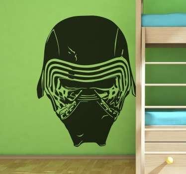 Naklejka Star Wars - maska Kylo Rena