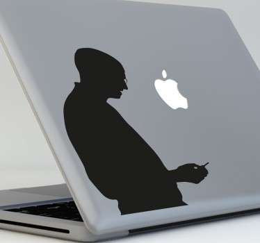 Sticker silhouette Steve Jobs