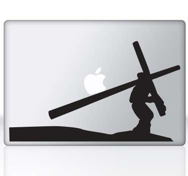 A laptop sticker with a characteristic image of Holy Week, designed for fervent believers of Christianity.