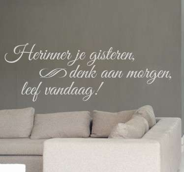 Motivatie stickers in woonkamer - TenStickers