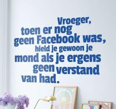 Facebook mond houden grappige tekst sticker