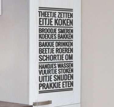 nederlandse muurteksten stickers op uw muren in keuken