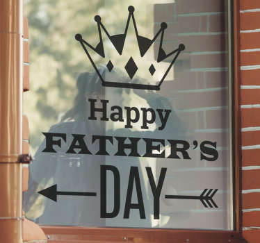 Superb festive wall sticker to celebrate Father's Day in a very special way! Brilliant monochrome decal to decorate your home or store.