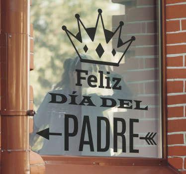 Vinilo de un cartel promocional para negocios con el que promocionar tu próxima campaña del día del Padre.