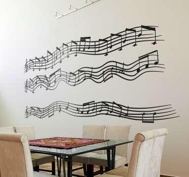 Wall sticker pentagramma canzone Imagine