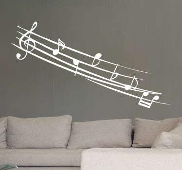 Note muzicale decal monocrom