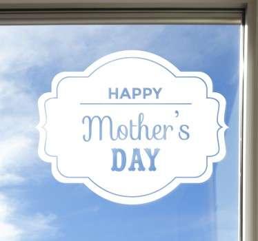 Vinil decorativo Feliz dia de Mãe