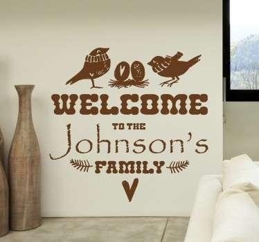 Vinil decorativo personalizável boas vindas