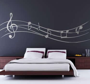 Hudební nálepky nástěnné