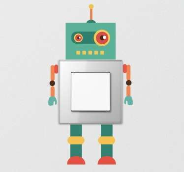 Barn robot ljus switch klistermärke