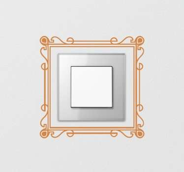 Lichtschalter Aufkleber Elegant