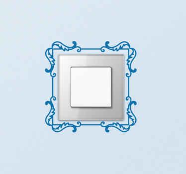 Lichtschalter Aufkleber Umrandung