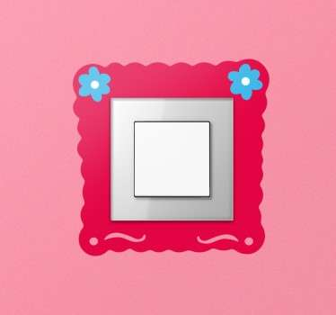 Flower Frame Light Switch Sticker