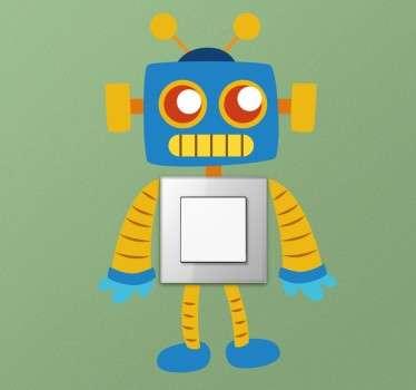 Sticker Lichtschakelaar van Kleurrijke Robot