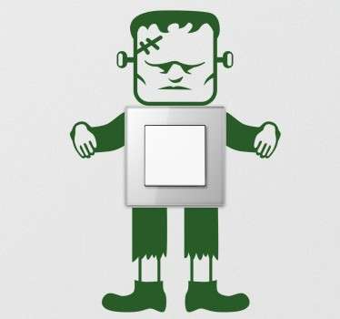 Naklejka na włącznik światła Frankenstein