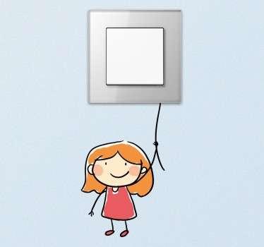 Lichtschakelaar Sticker Klein Meisje